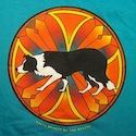 Stained Glass Border Collie